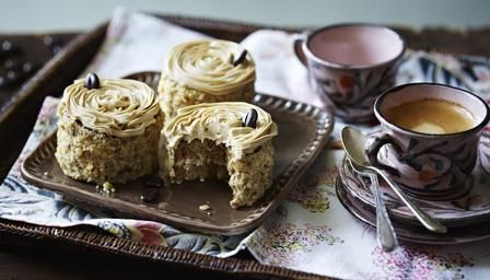 BBC - Food - Recipes : Mini coffee and walnut cakes