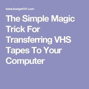 Der einfache Zaubertrick zum Übertragen von VHS-Bändern auf Ihren Computer – – iPHONE