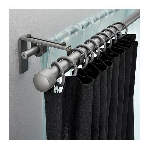 RÄCKA/HUGAD Double curtain rod set – IKEA. This would give you the option of light-weight light filtering, or heavy, black out shades. is creative inspiration for us. Get more photo about home decor related with by looking at photos gallery at the bottom of this page. We are want to …