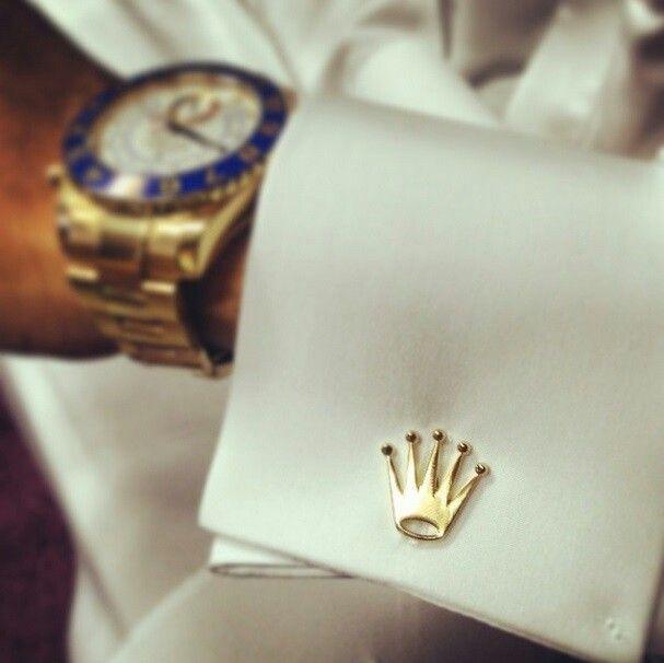 Rolex logo Cufflinks | watches in 2019 | Cufflinks, Mens ...