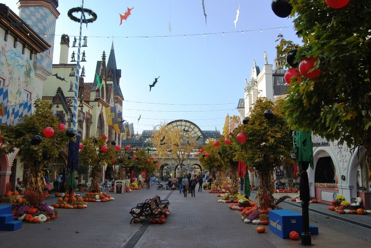 fall and halloween in Europapark Rust, Germany