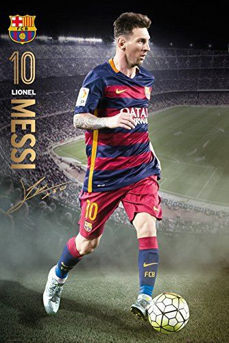 Barcelona- Messi Action 15/16 Poster 24 x 36in