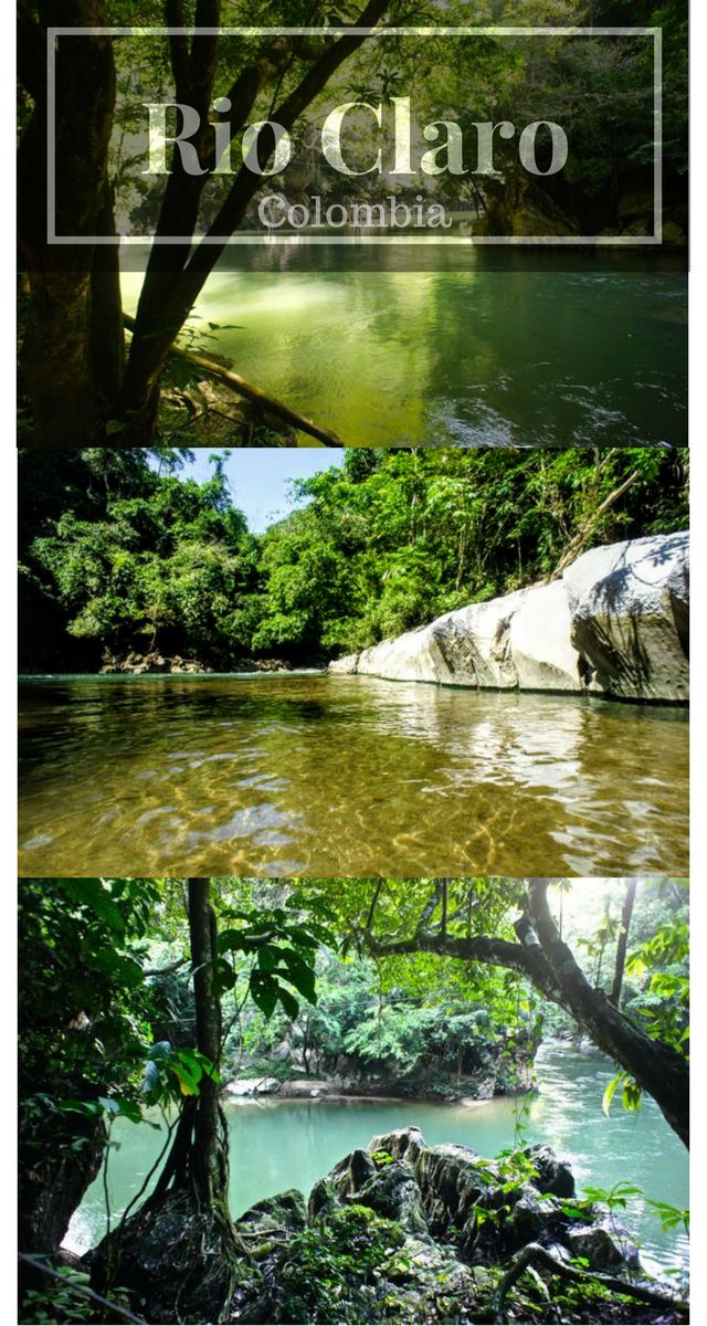 """Rio Claro is a beautiful river in Colombia located in Puerto Triunfo in Antioquia. It is just a few hours from Medellin what makes it perfect for a weekend trip. The natural reserve """"El Refugio"""" is the perfect place to enjoy some time at the river. Plenty of activities, a great panoramic view from the Cabanas and the option to swim will make your weekend here unforgettable #colombia #kolumbien #rioclaro #antioquia #elrefugio #medellin #travel"""