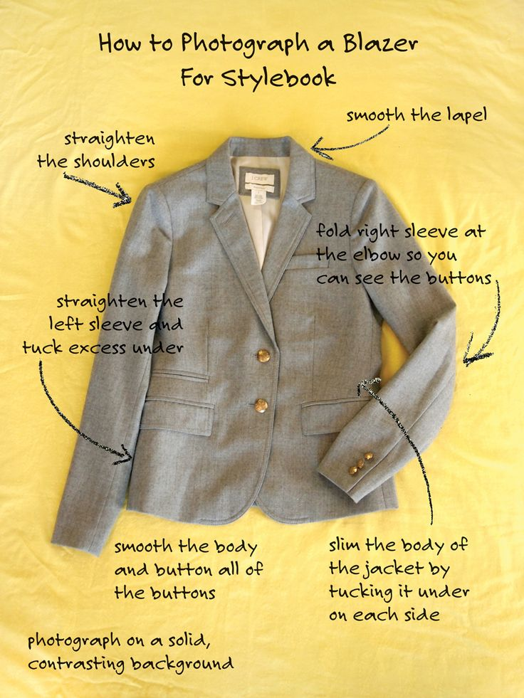 How to Photograph a Blazer for Stylebook - Styling Tip #phototip #app
