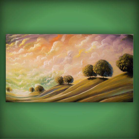 art abstract original painting art abstract mountain by mattsart, $449.00