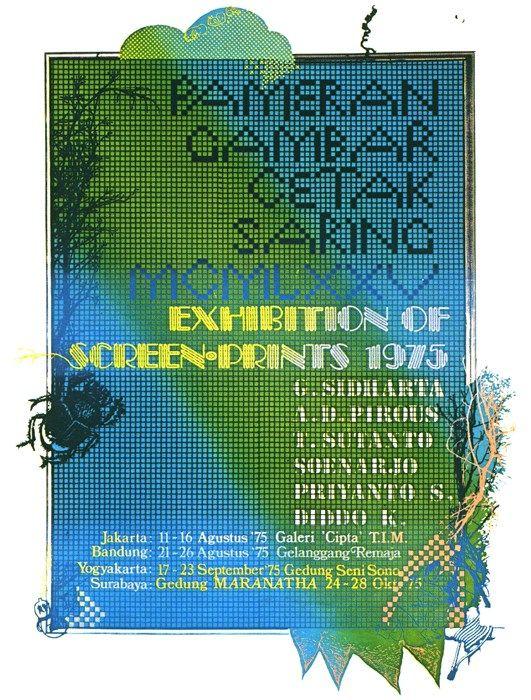 Poster Pameran Gambar Cetak Saring 1975 - Priyanto Sunarto - 1975