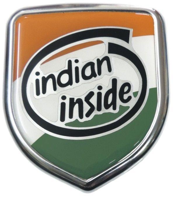 Details About Indian Inside 3D Chrome Emblem Badge Logo
