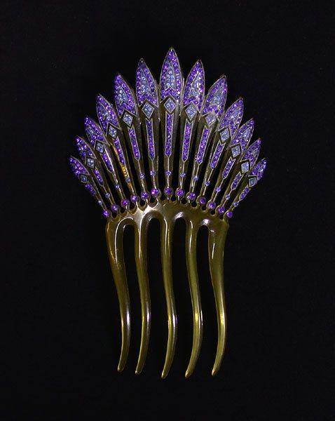belaquadros:  Art Deco Hair Comb