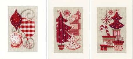 red and white ornaments- Christmas