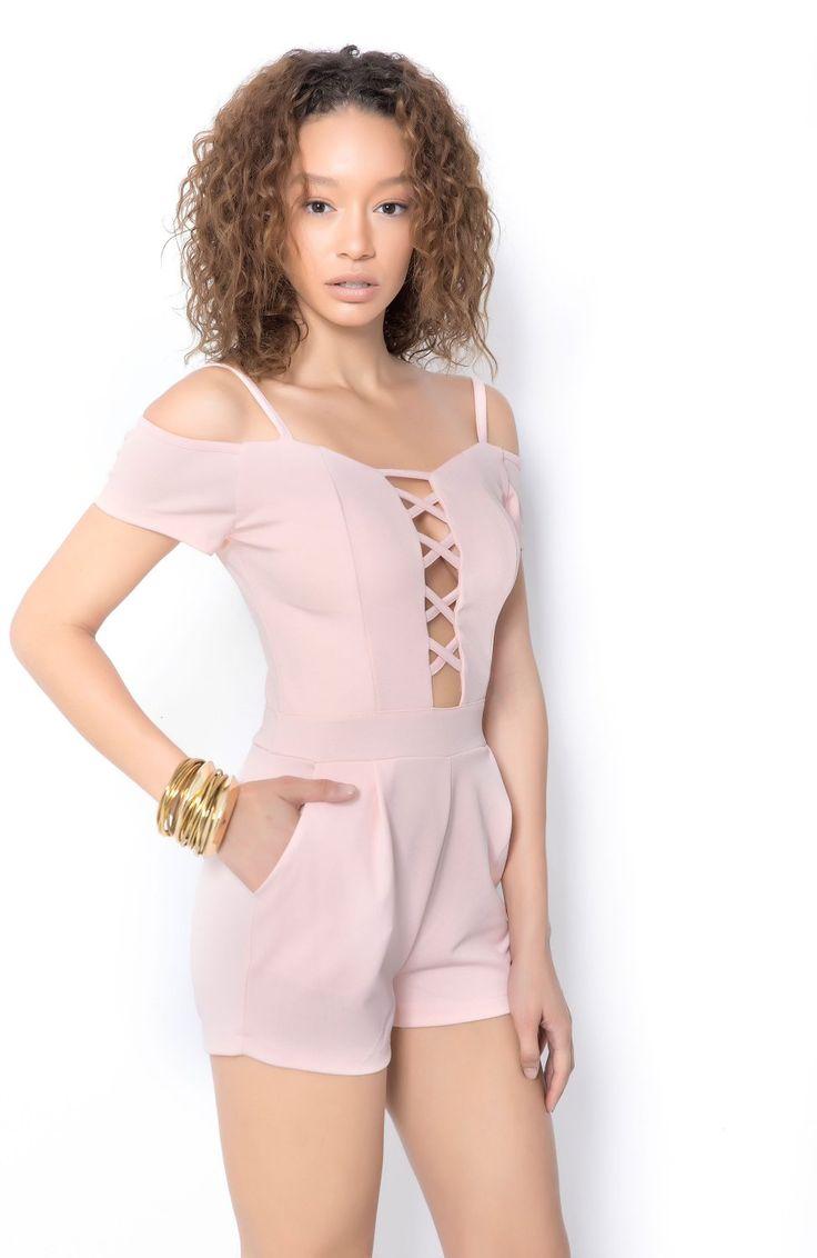 Kensie ολόσωμη φόρμα (σορτς) ροζ