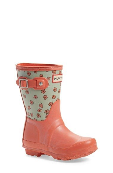 Hunter 'Original' Floral Rain Boot (Toddler, Little Kid & Big Kid) available at #Nordstrom