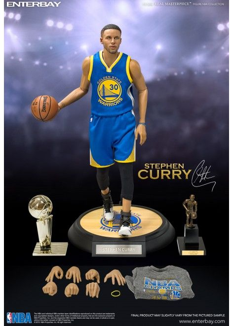 NBA 1:6 Enterbay Motion Materpiece Stephen Curry Warriors Action Figure