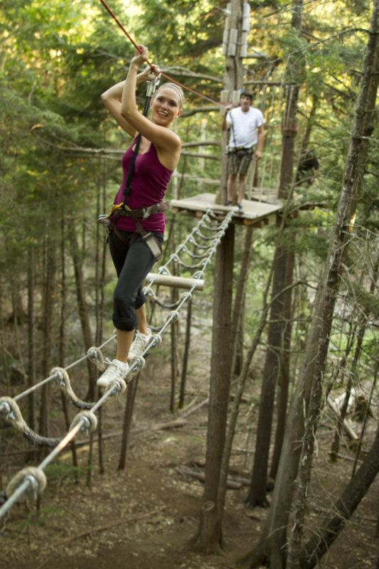 Challenge yourself at TreeGo aerial adventure in New Brunswick's Mactaquac Provincial Park.
