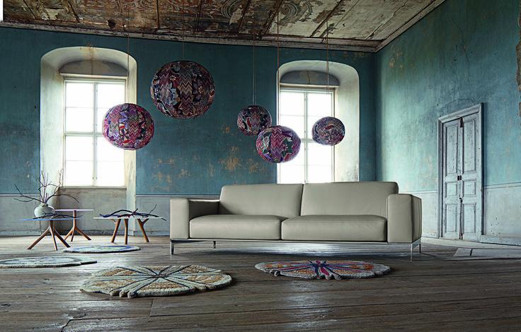 Roche Bobois Equation Ii Leather Sofa Design R