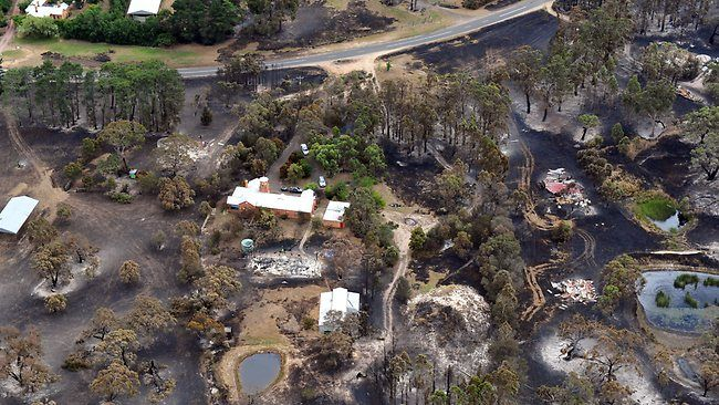 Bushfire devastation