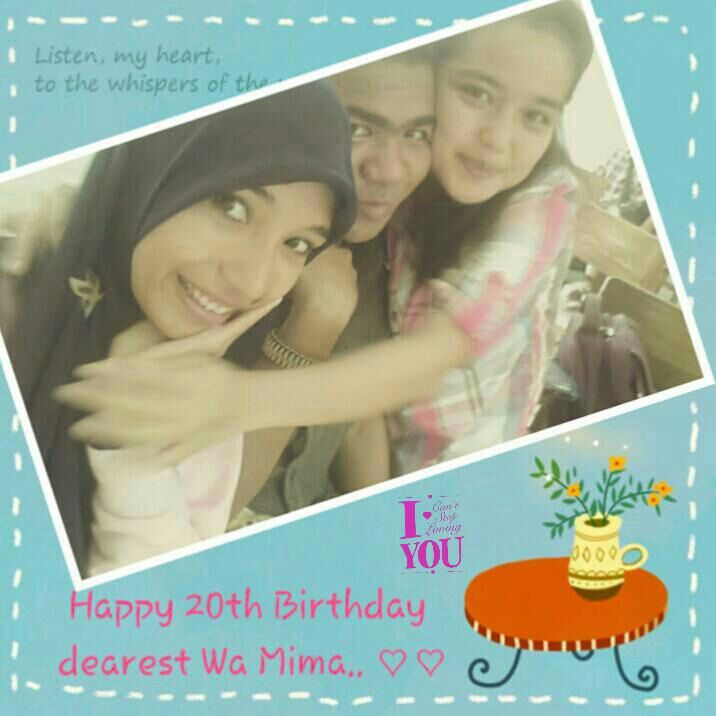 **Happy 20th #Birthday #dearest Wa Mima.. :* ♡♡ We Love You.. :* xoxo #superlatepost