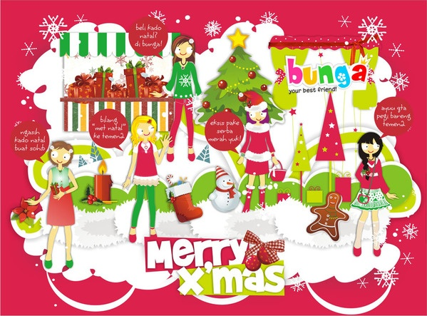 Bunga Xmas e-greeting card, courtesy by creasionbrand