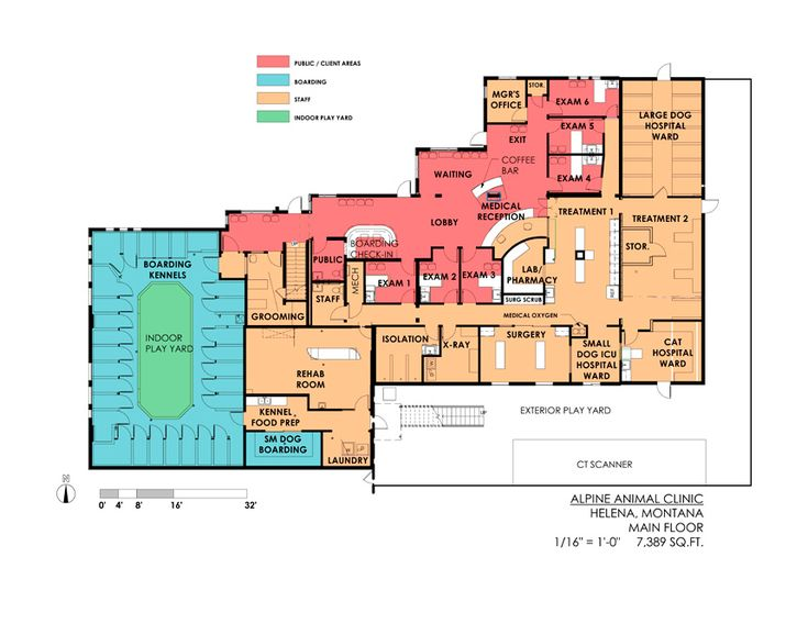 Alpine Animal Clinic in Helena, Montana: first floor | Hospital Design