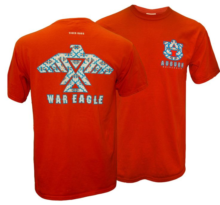 Aztec war eagle auburn university comfort colors tee for Auburn war eagle shirt