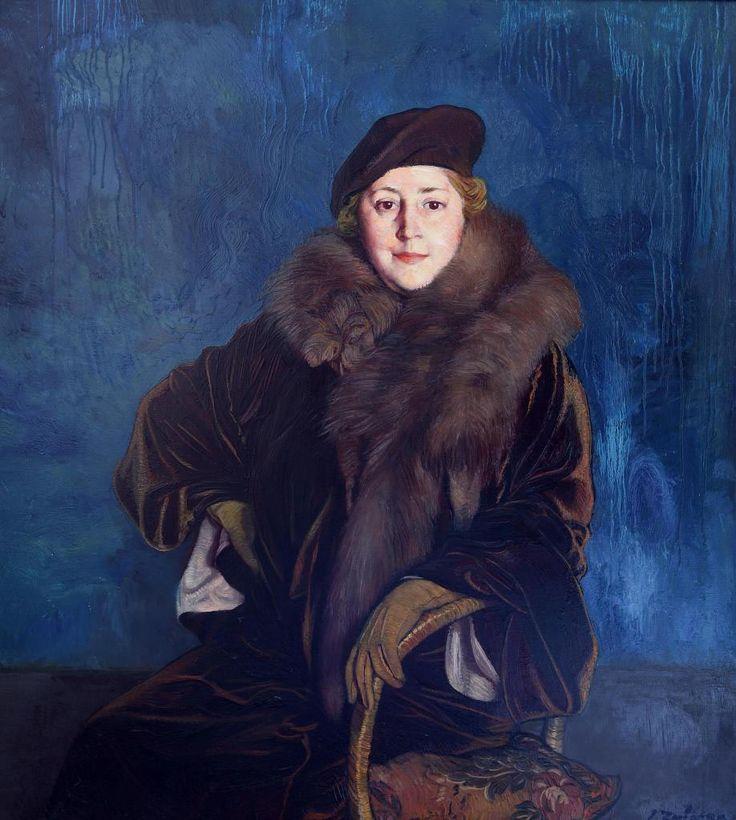 Ignacio Zuloaga - Retrato de Mrs Mary Parshall