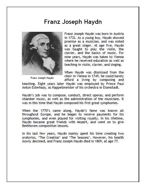Franz Josef Haydn