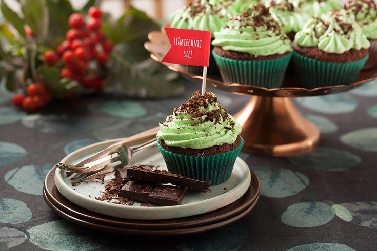 #Babeczki #brownie z kremem miętowym #brownies #cupcake #krem #mięta #czekolada #chocolatecake #chocolate #mint #mintcream #deser #babeczka #sweet