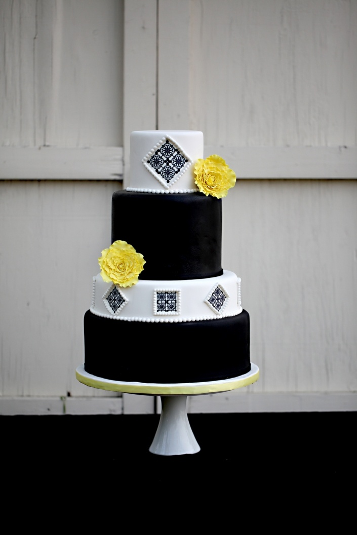White Wedding Cake Modern