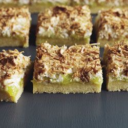 Lime & coconut louise cake