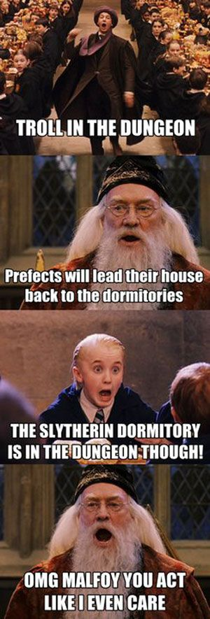 This is so funny I laughed for 5 mins! Draco's face is just hilarious! You should really pin this!