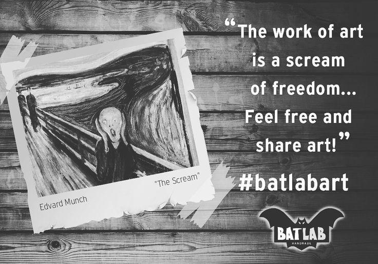 The work of art is a scream of freedom... #batlabart Feel free and share art!