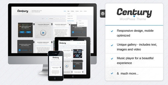 Century - Responsive WordPress Portfolio Theme - ThemeForest Item for Sale