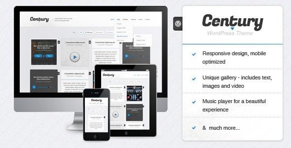 Century - Responsive WordPress Portfolio Theme