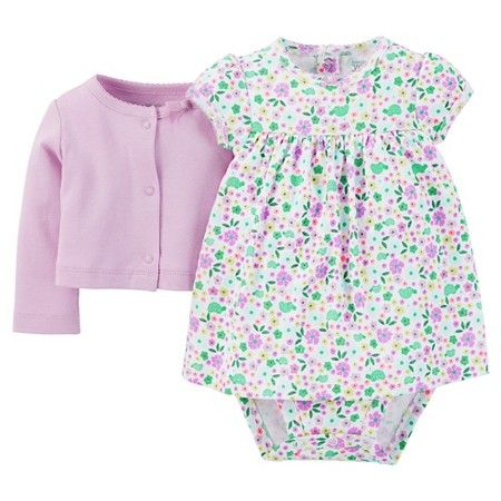 Just One You™ Made by Carter's® Baby Girls' Floral 2-Piece Dress Set - Purple : Target