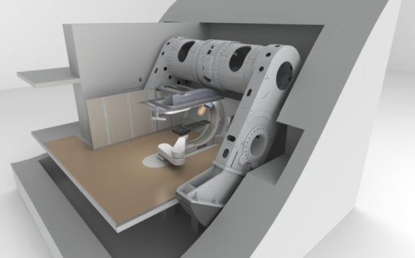 Proton therapy system, used for the treatment of cancerous tumors, powered by Tesla Engineering superconducting magnets, and made by Mevion Medical Systems, Inc in USA.  http://www.wscountytimes.co.uk/news/business/new-factory-to-produce-proton-therapy-systems-1-4368877