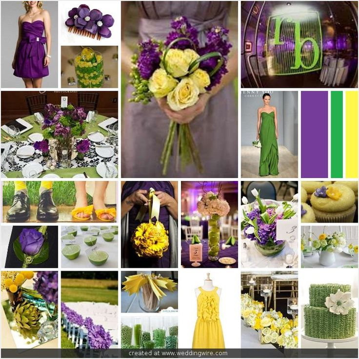Wedding Inspirations Purple Green And Yellow