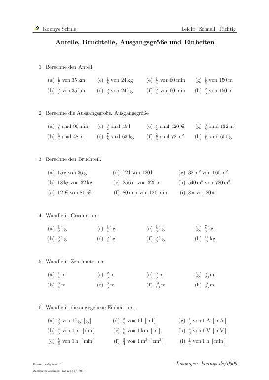 Anteile, Bruchteile, Ausgangsgröße und Einheiten | Aufgaben mit Lösungen und Videoerklärungen | Terme vereinfachen #zusammenfassen #gleichartige Glieder #Klammern auflösen #Minusklammern #Distributivgesetz
