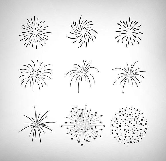 Firecrackers Vector Set by snipergraphics on @creativemarket
