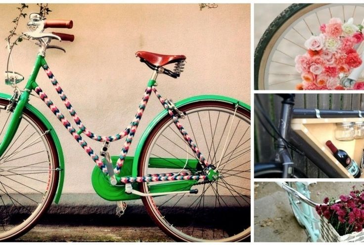 21 DIY Ways To Pimp Your Bike… #6 Is Perfect For Wine Lovers.