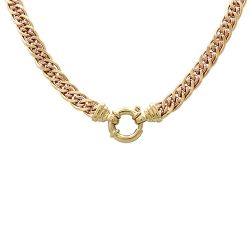 9ct Gold Two Tone Double Curb Link Necklace