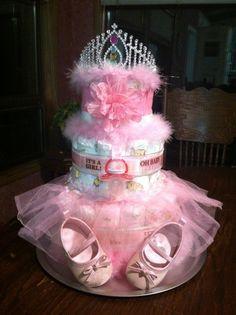 princess diaper cake ideas - Google Search