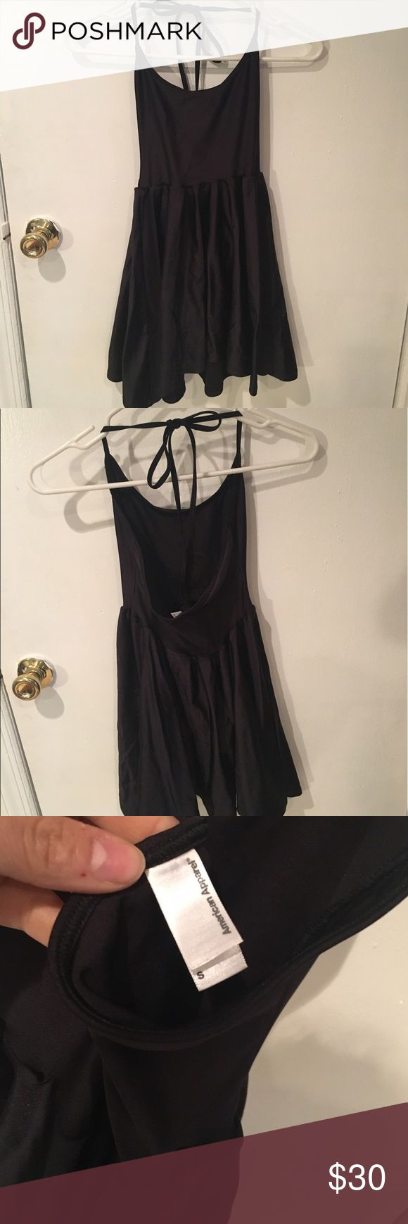 American apparel tie back nylon dress size S American apparel tie back nylon dress size S, worn once. Last chance!! American apparel is closing FOREVER American Apparel Dresses Mini