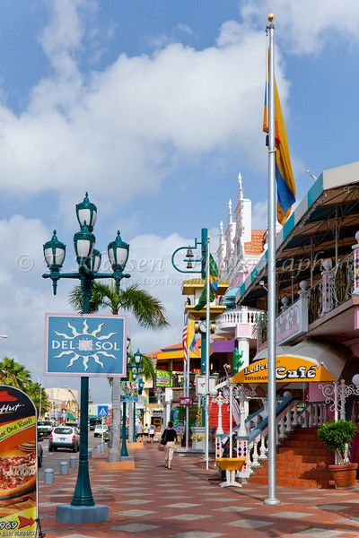 Shops and stores in Oranjestad, Aruba, Nethlands Antilles. #onehappyisland #aruba