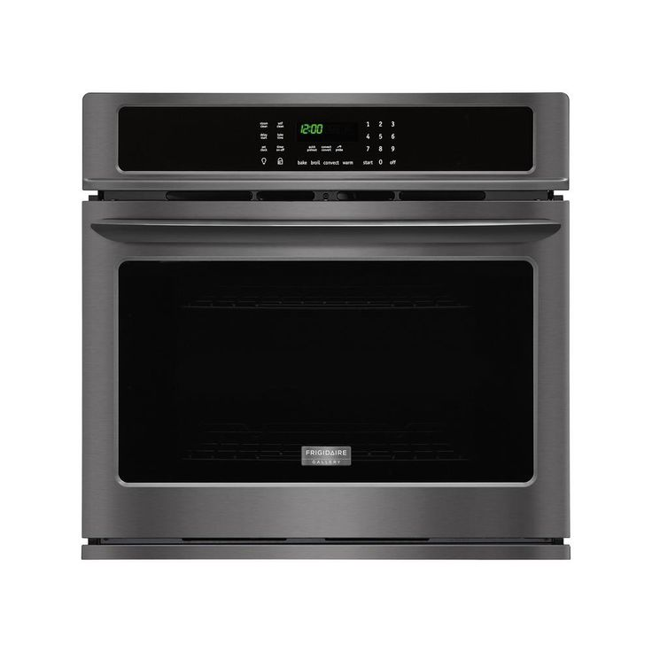 Frigidaire Gallery 30 in. Single Electric Wall Oven Self-Cleaning with Convection in Black Stainless Steel