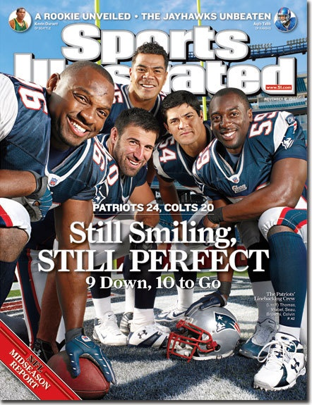 I remember when Vrabel, Bruschi, Seau, Colvin, and Thomas Sports Illustrated New England Patriots Defense