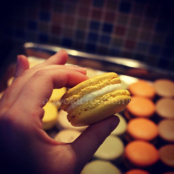 INSTANT DOWNLOAD Food Photography Lemon Macaron by apookicreation, €2.20