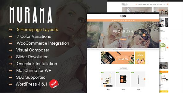 Hurama is a modern, clean and professional multipurpose WooCommerce WordPress theme that provides an elegant solution for any online shop.
