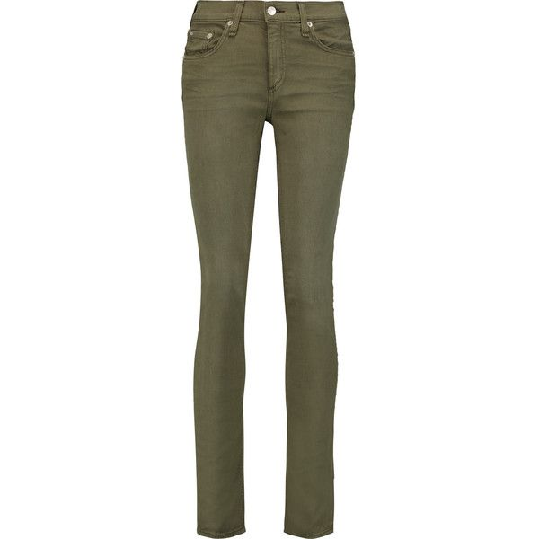 Rag & bone Mid-rise skinny jeans ($107) ❤ liked on Polyvore featuring. Olive  Skinny JeansOlive SkinniesGreen ... - Best 25+ Green Skinny Jeans Ideas On Pinterest Green Skinnies