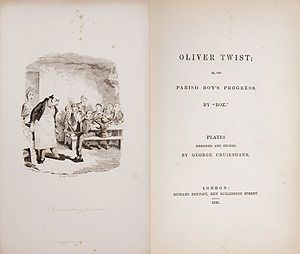 The story is about an orphan, Oliver Twist, who endures a miserable existence in a workhouse and then is placed with an undertaker. He escapes and travels to London where he meets the Artful Dodger, leader of a gang of juvenile pickpockets. Oliver is led to the lair of their elderly criminal trainer Fagin, naively unaware of their unlawful activities.