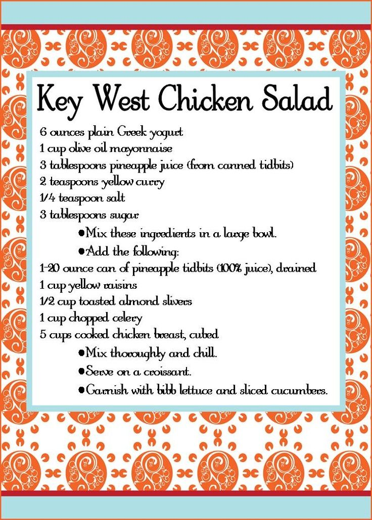 Key West Chicken Salad created by Martha Ree and Gayle