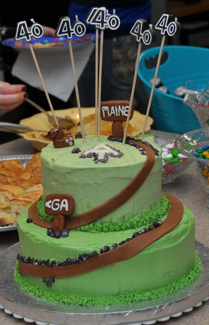 Appalachian Trail Birthday Cake 40th Party